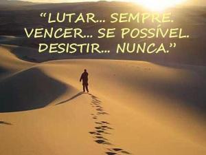 desistir nunca